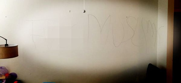 Virginia Family Comes Home To Find 'F**k Muslims' Graffiti Inside