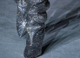 Saint Laurent's Rhinestone Boots Worn By Rihanna Now Have A Waiting List