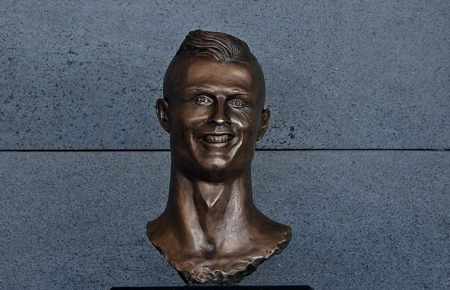 Cristiano Ronaldo Statue Unveiled At Madeira Airport... But Twitter Is Less Than