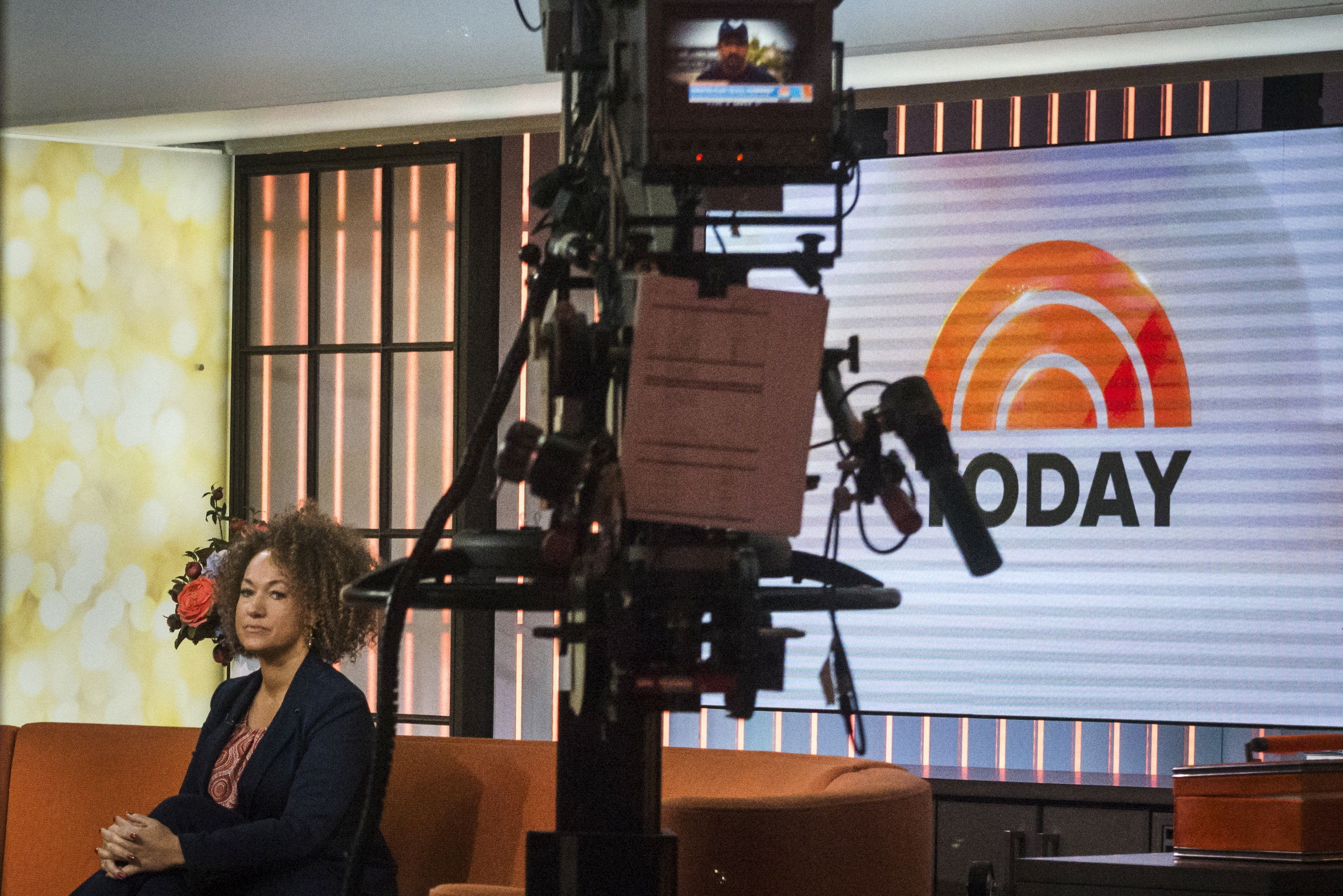 "Washington state civil rights advocate Rachel Dolezal is seen in the NBC's ""Today"" show studios in Manhattan, New York June 16, 2015. Dolezal, who has been accused of falsely claiming she is African-American, said on Tuesday she identifies as black and has been doing so since she was 5 years of age. Dolezal, in an interview on NBC's ""Today"" television show, said a major shift in her identity came when she was doing human rights work in Idaho and newspaper stories described her as transracial, biracial and black.  REUTERS/Stephanie Keith"