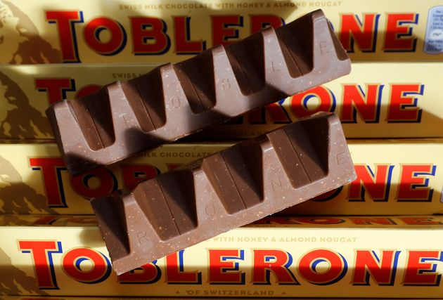 150g and 170g bars of Toblerone chocolate are illustrated in Loughborough, Britain, Nov. 8,