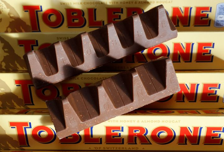 150g and 170g bars of Toblerone chocolate are illustrated in Loughborough, Britain, Nov. 8, 2016.
