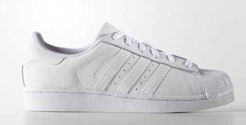 """Adidas women's leather Superstar shoes, <a href=""""http://www.adidas.com/us/superstar-shoes/S85139.html"""" target=""""_blank"""">$80 at"""