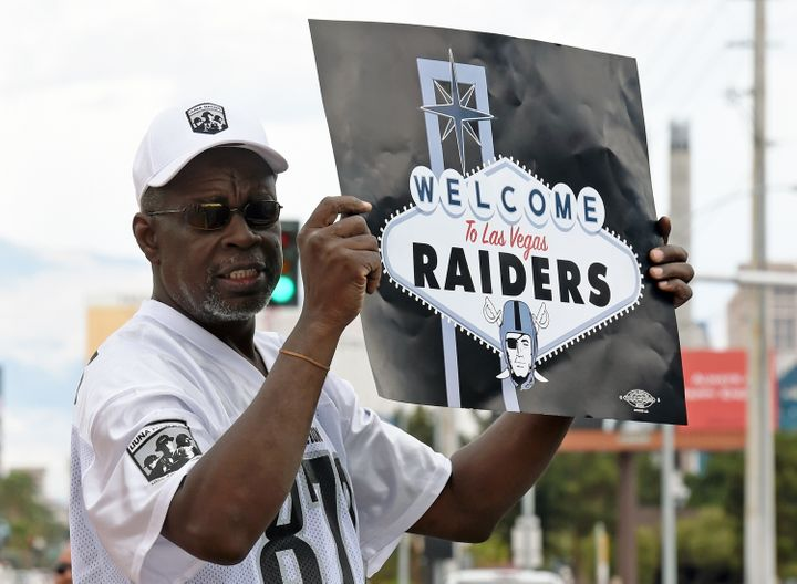 Of the 32 NFL owners, 31 voted to allow the Raiders to leave Oakland for Las Vegas, and fans gathered Monday on the Las
