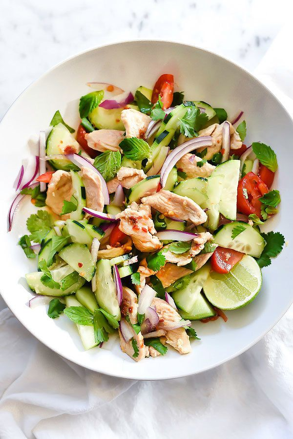 "<strong>Get the <a href=""http://www.foodiecrush.com/thai-chicken-cucumber-salad/"" target=""_blank"">Thai Chicken Cucumber Salad"
