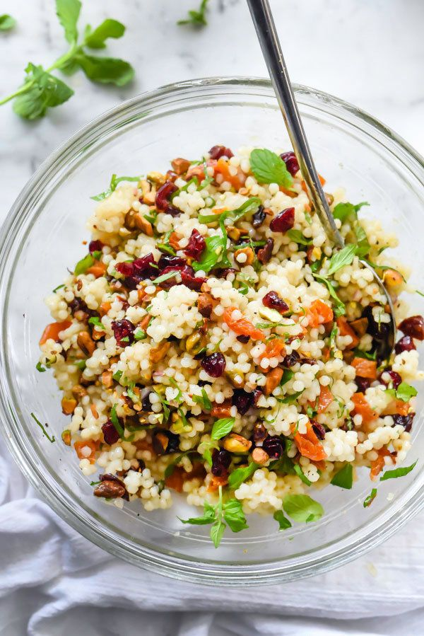 "<strong>Get the <a href=""http://www.foodiecrush.com/couscous-with-pistachios-apricots-and-cranberries/"" target=""_blank"">Israe"