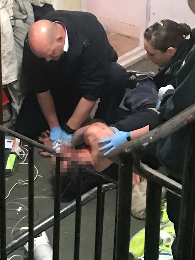 Paramedics battled to save his