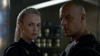 """CHARLIZE THERON and VIN DIESEL in """"The Fate of the Furious.""""  On the heels of 2015's """"Furious 7,"""" one of the fastest movies to reach $1 billion worldwide in box-office history and the sixth-biggest global title of all time, comes the newest chapter in one of the most popular and enduring motion-picture serials of all time."""