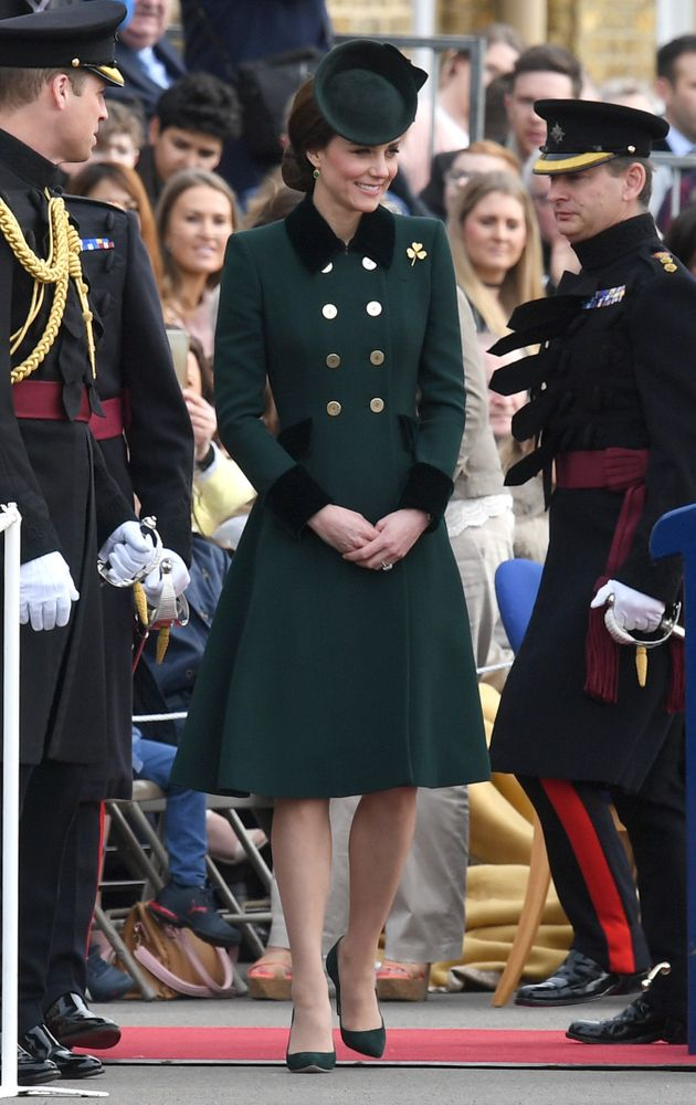 Kate wore this on March 17 -- St. Patricks day -- so the green isn't an unusual