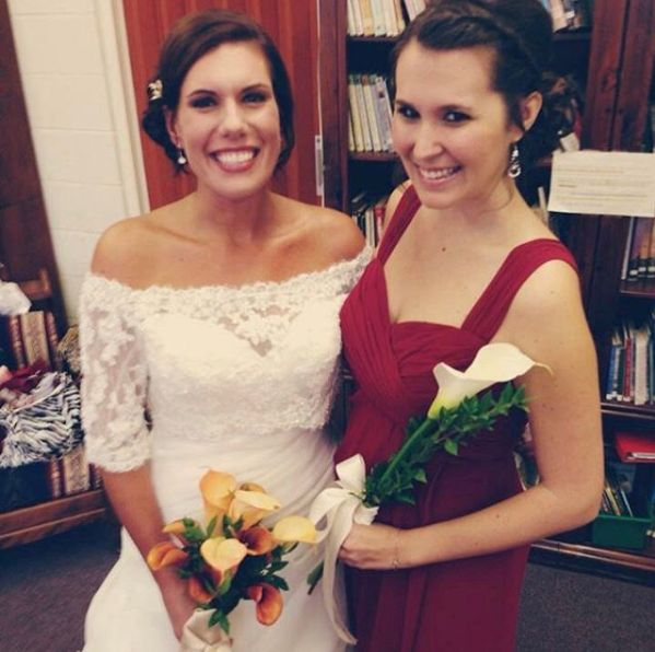 I was maid of honor in my cousin's wedding, which was a day full of laughter, tears and lots of champagne.