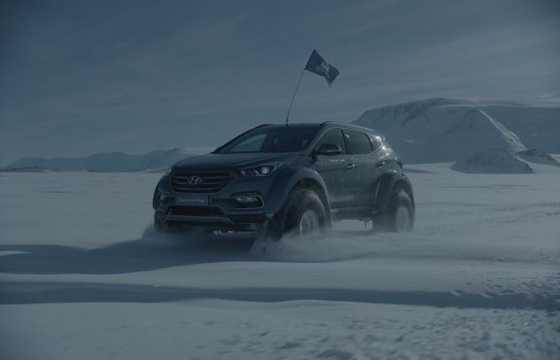Hyundai crosses Antarctica in gnarly off-road Santa Fe