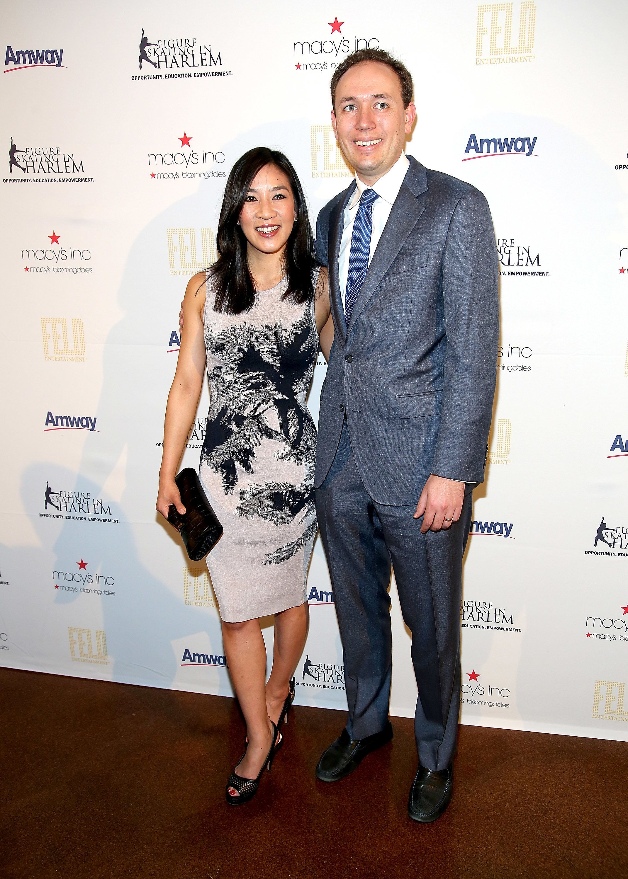 Michelle Kwan and Clay Pell at theSkating With The Stars Benefit Gala in April 2015.