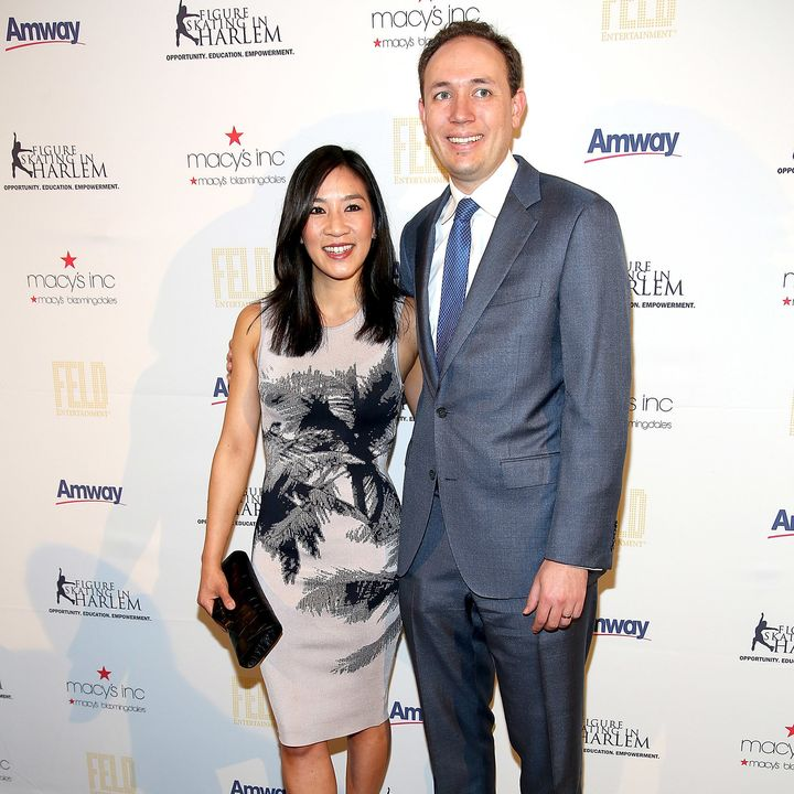 Michelle Kwan and Clay Pell at the Skating With The Stars Benefit Gala in April 2015.