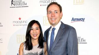 NEW YORK, NY - APRIL 13:  Michelle Kwan (L) and Clay Pell attend The 10th Annual Skating With The Stars Benefit Gala at 583 Park Avenue on April 13, 2015 in New York City.  (Photo by Paul Zimmerman/Getty Images)