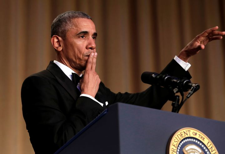 President Barack Obama dropped the mic after his final White House Correspondents Dinner speech.