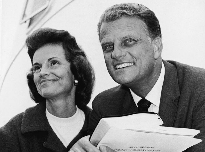 American evangelist Billy Graham and his wife Ruth. New York, New York, May 18, 1966.