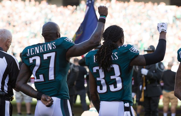 Jenkins was among the players who joined Colin Kaepernick's protests during the 2016 NFL season.