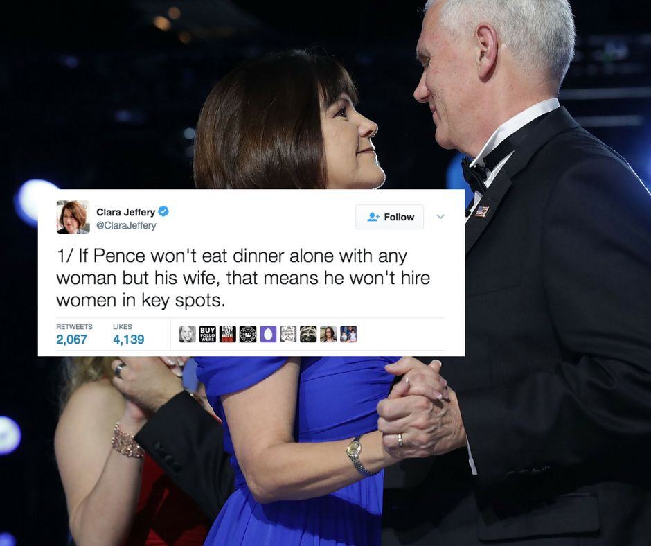 Why It Matters That Pence Won't Have Dinner With A Woman Who Isn't His