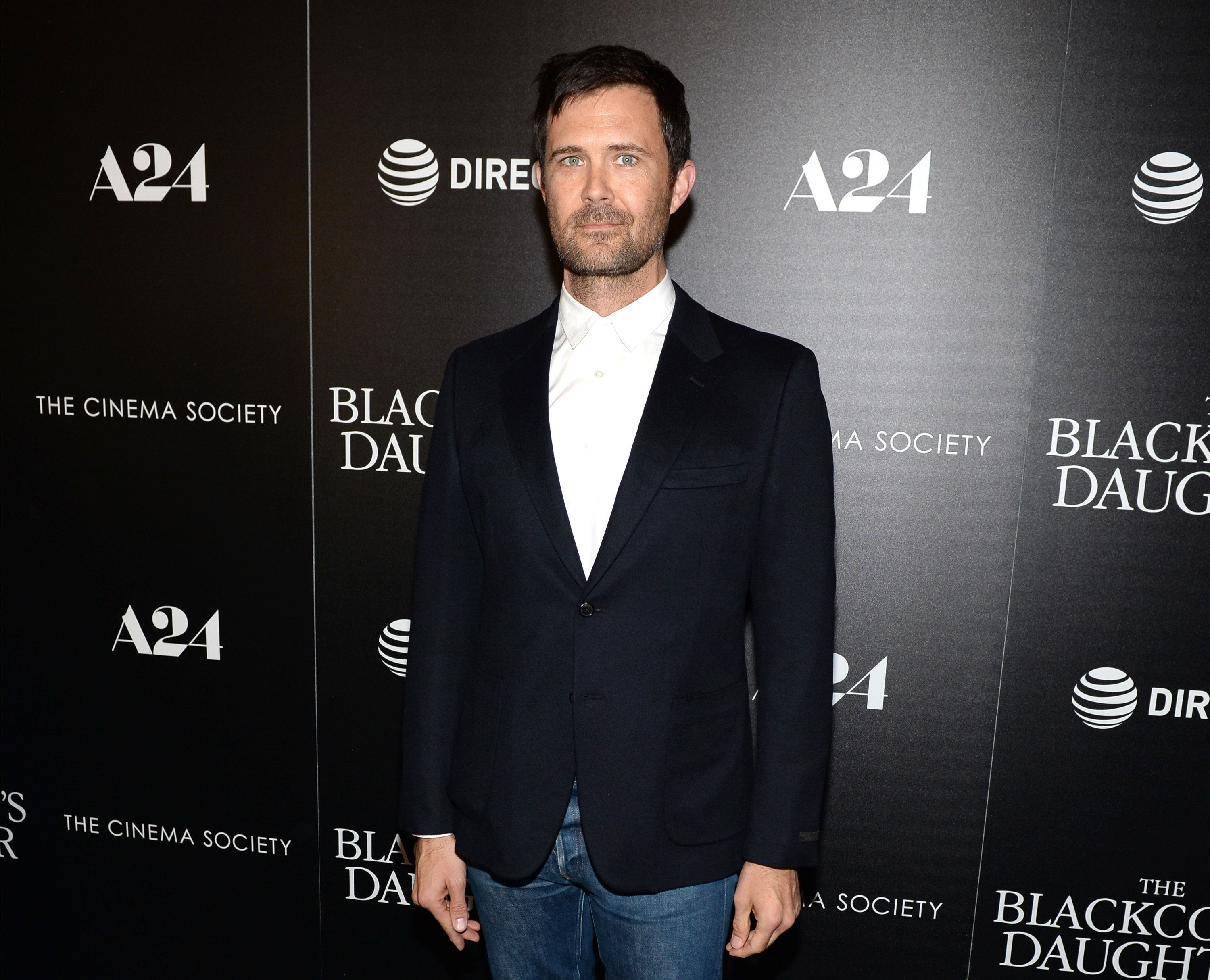 "Oz Perkins attends the New York premiere of ""The Blackcoat's Daughter"" on March 22."