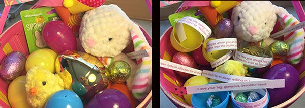 <em>Fill their eggs with messages of love!</em>
