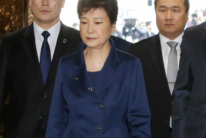 Impeached South Korean President Park Geun-hye was arrested on March 30, 2017 on charges of collusion and other wrongdoings t