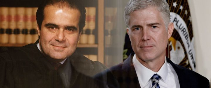 Trump Supreme Court nominee Neil Gorsuch and his mentor, Justice Scalia