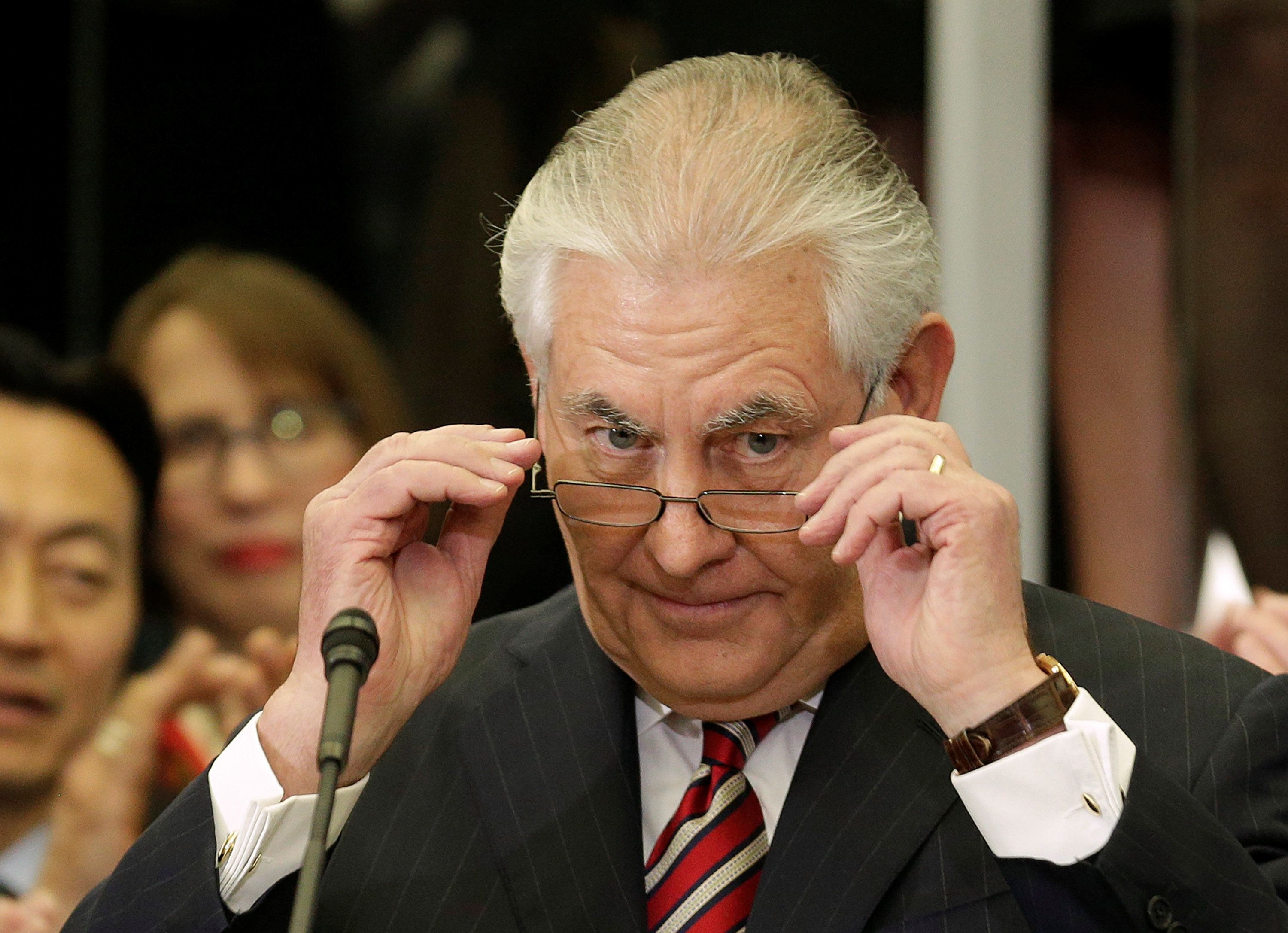 A report in the Washington Post says some people who work for Secretary of State Rex Tillersonhave been told not to mak
