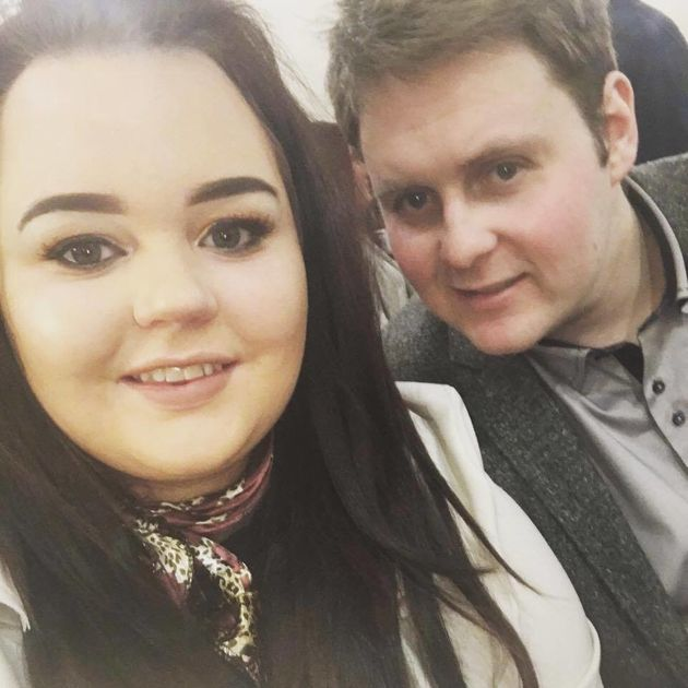 The 22-year-old's tumour was found when she had an eye-test for double