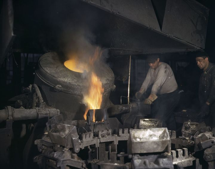 Chase Brass and Copper Co., Euclid, Ohio. 1942. Before OSHA and the 1970 Clean Air Act (CAA) .