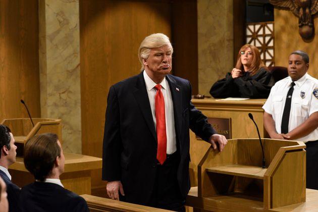 Alec Baldwin as President Donald Trump in an