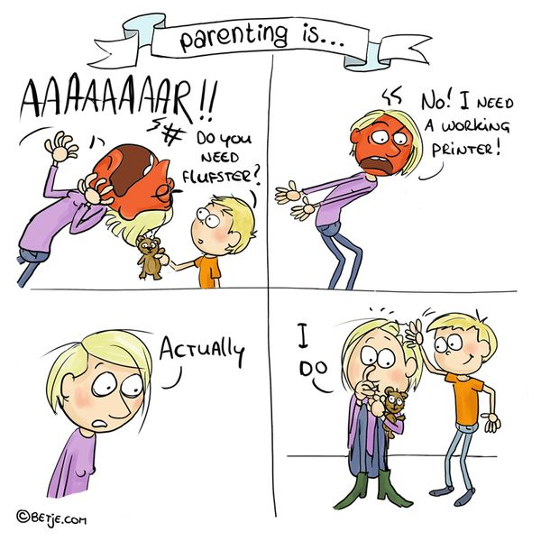 'Parenting Is ...' Comics Showcase The Highs And Lows Of Raising Kids 58de5db71400008806072961