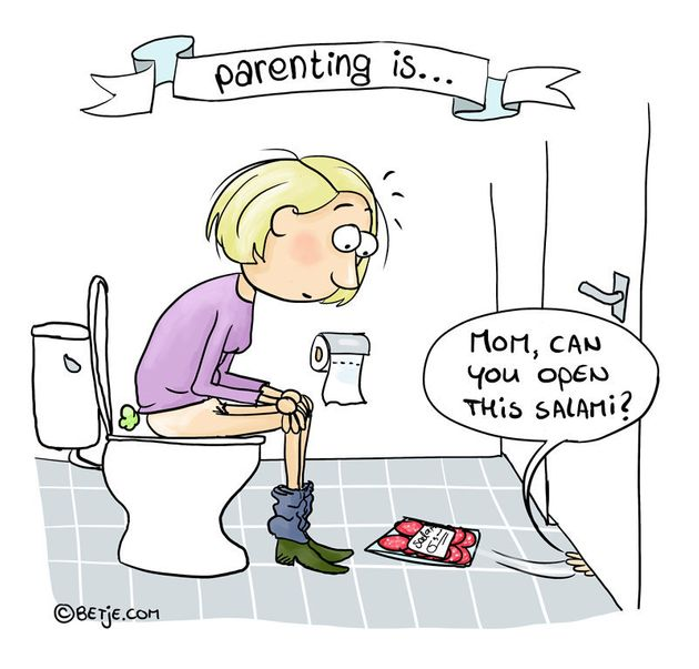 "Ton's latest series, ""Parenting Is ..."" tackles the messes, exhaustion and total..."