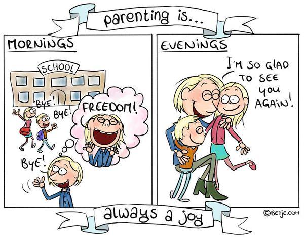 'Parenting Is ...' Comics Showcase The Highs And Lows Of Raising Kids 58de5db81d0000cf3b7d195c