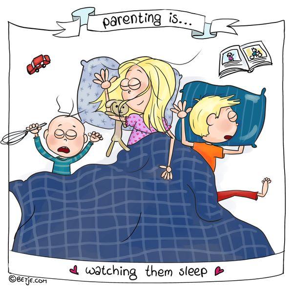 'Parenting Is ...' Comics Showcase The Highs And Lows Of Raising Kids 58de5db81d0000f42c7d195d