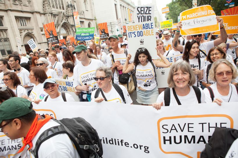 Scenes from the People's Climate March in New York City on Sunday, September 21, 2014.