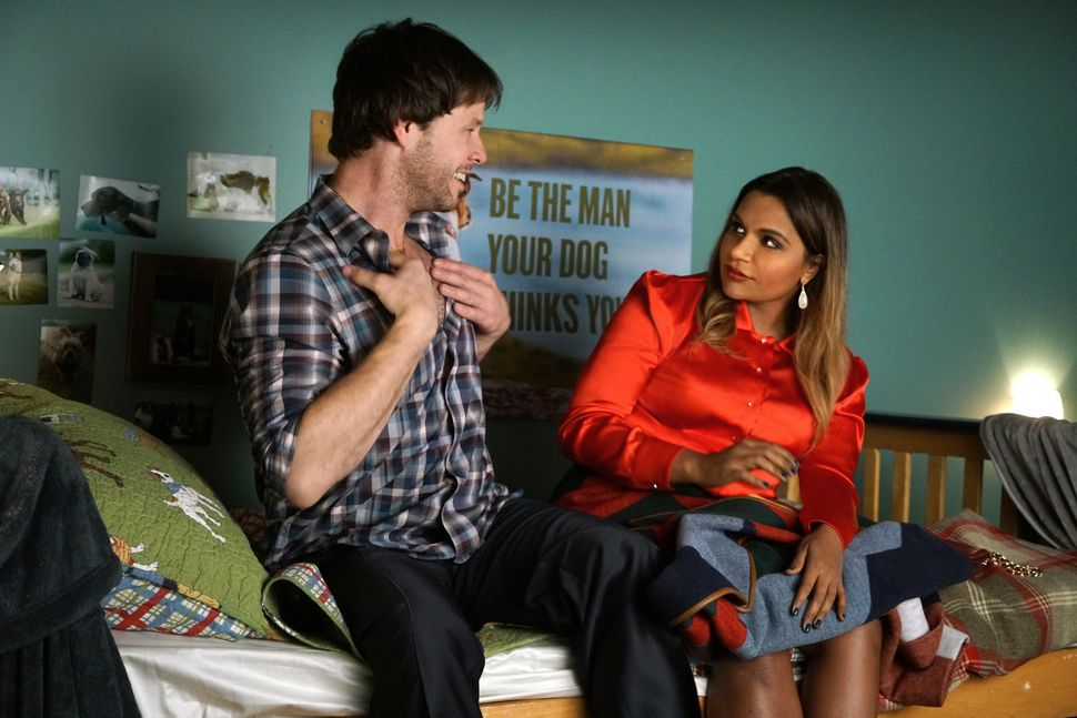 """Ike Barinholtz as Morgan Tookers and Mindy Kaling as Mindy Lahiri in """"Mindy's Best Friend"""" (Episode 513)."""