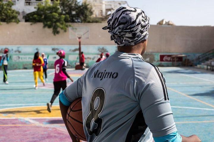 Players from team Hagen practice at Wiish Stadium in Mogadishu's Wadadaliido district.