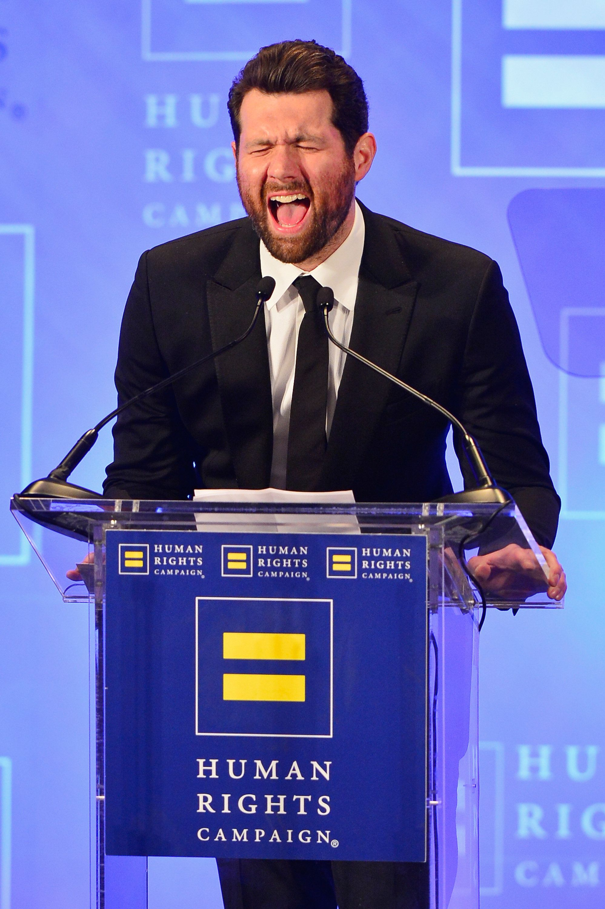 NEW YORK, NY - FEBRUARY 11:  Comedian Billy Eichner speaks onstage during the 2017 Human Rights Campaign Greater New York Gala at Waldorf Astoria Hotel on February 11, 2017 in New York City.  (Photo by Roy Rochlin/Getty Images)