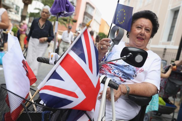A woman in Gibraltar backs Remain on referendum day in