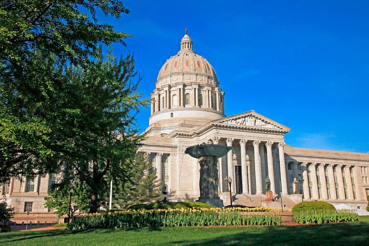 The state Capitol building in Jefferson City, Missouri.