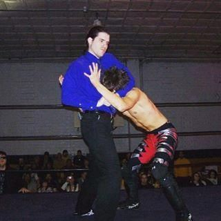 Image of the author as a wrestler, the one on the left (Courtesy of Marissa Alexa McCool)