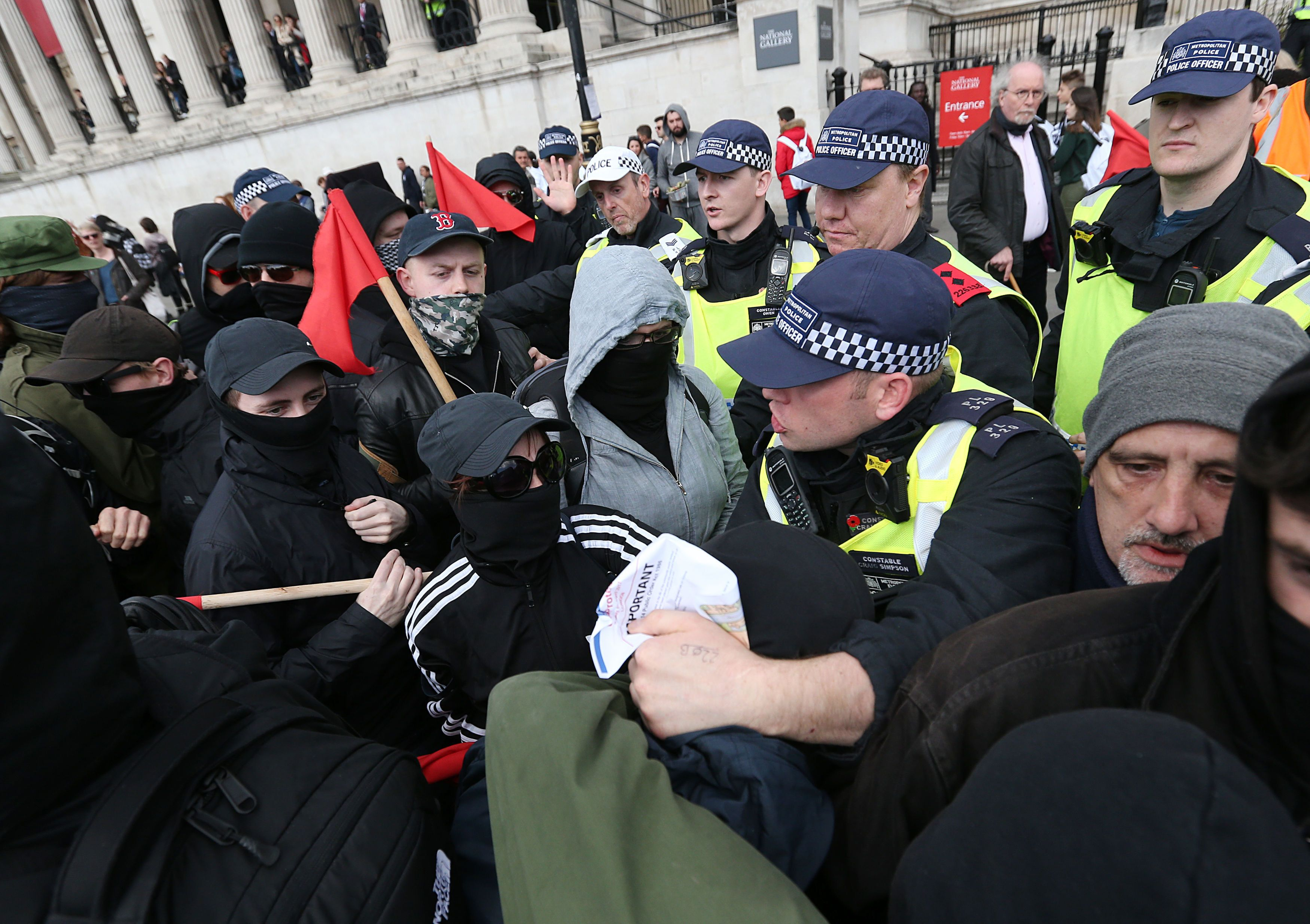 Ugly Scenes As Rival EDL And Counter-Fascist Demonstrations Take