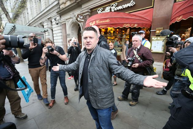 Former EDL Tommy Robinson was in attendance on