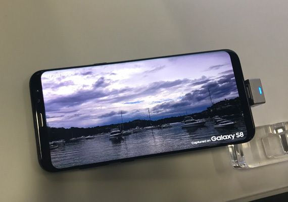 "The Galaxy S8+ screen looks ""alive."""