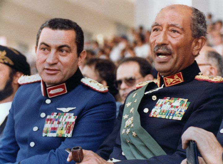 Mubarak rose to power after Anwar Sadat, the former president of Egypt, was assassinated in 1981.