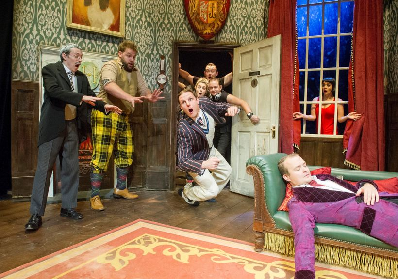 The Cast of <em>The Play That Goes Wrong</em>
