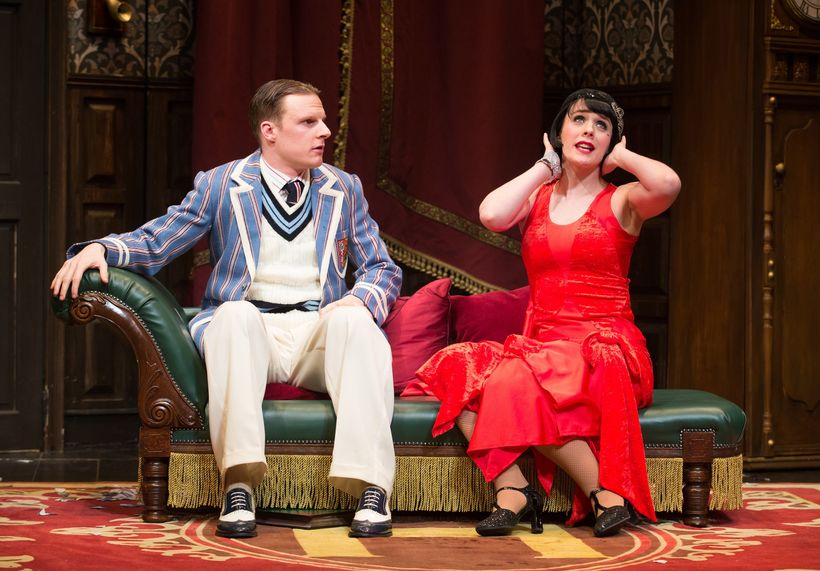 Dave Hearn and Charlie Russell in <em>The Play That Goes Wrong</em>