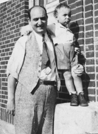 Nat Yellen (Sherman's Father) with a young Sherman Yellen