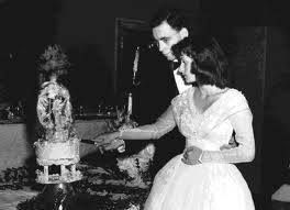 Sherman and Joan Yellen on their wedding day in 1953. They married right after college.
