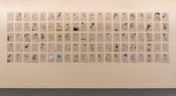 "Kenyatta A.C. Hinkle, ""The Evanesced,"" installation shot."